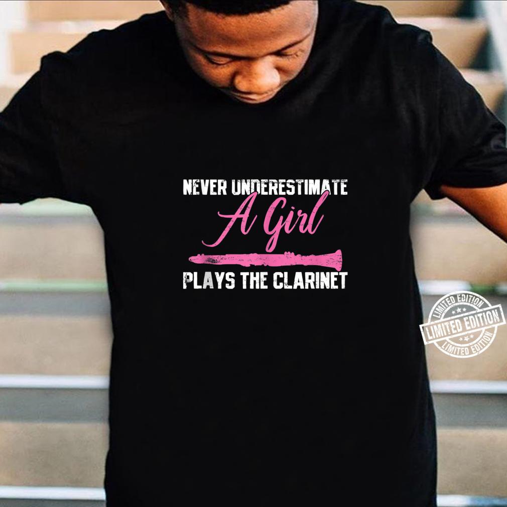 Clarinet Girl Musician Music Instrument Vintage Shirt