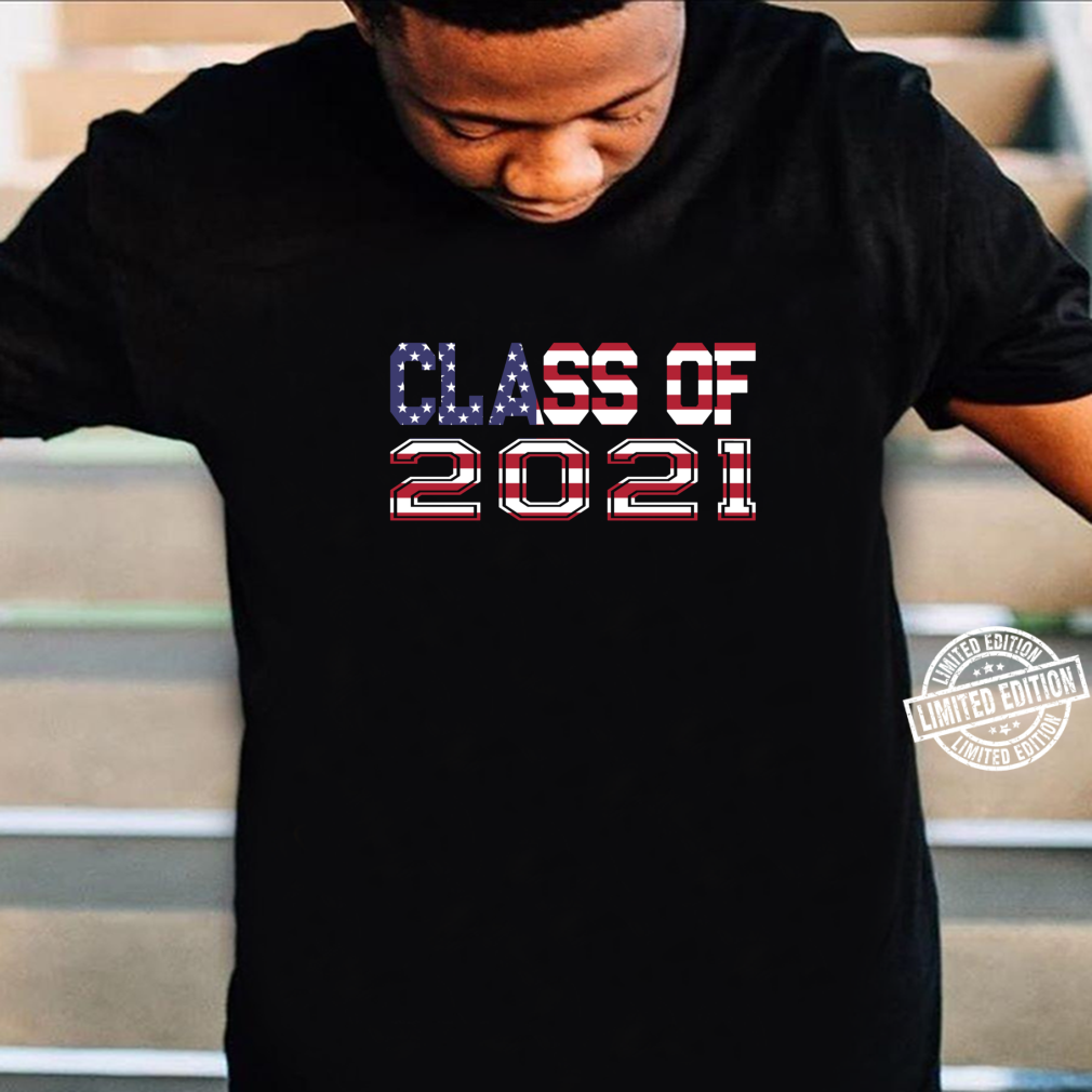 Class of 2021 Red White & Blue American Flag Shirt