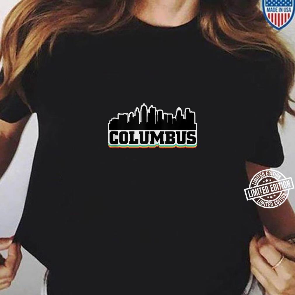 Columbus Ohio OH City Souvenir Shirt ladies tee