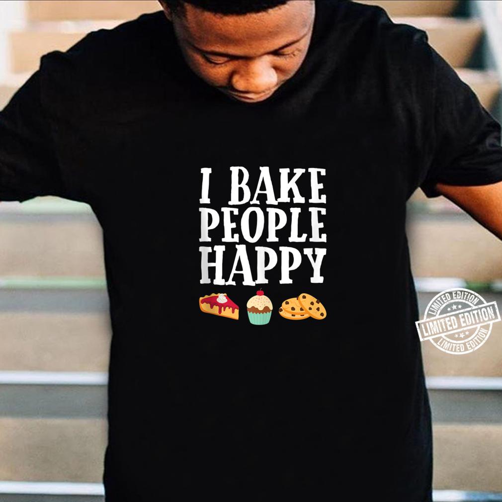 I Bake People Happy Dessert Baker Purple Shirt