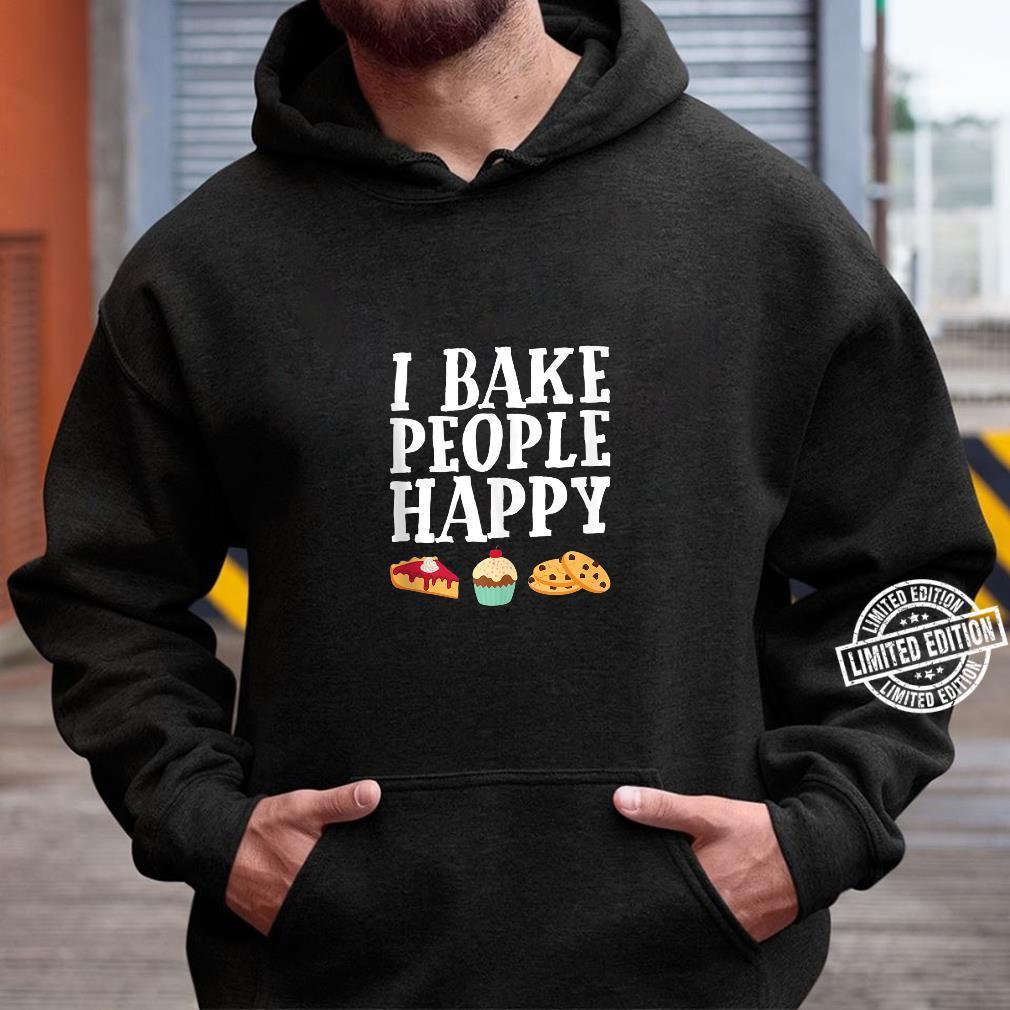 I Bake People Happy Dessert Baker Purple Shirt hoodie