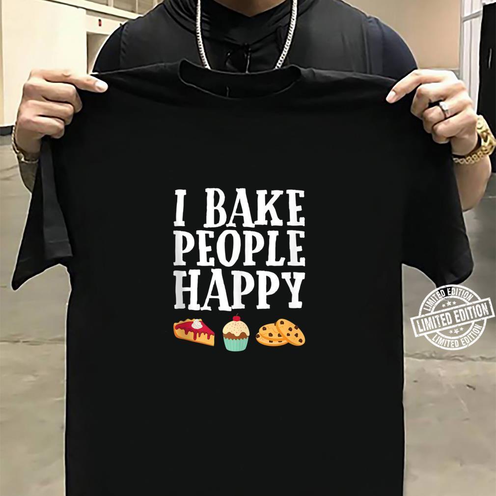 I Bake People Happy Dessert Baker Purple Shirt sweater